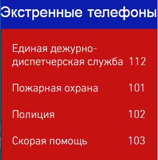 Экстренные телефоны ЕДДС 112 Пожарная охрана 101 Полиция 102 Скорая помощь 103